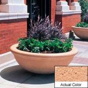 Wausau TF4144 Round Outdoor Planter - Weatherstone Cream 48x18