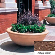 Wausau TF4144 Round Outdoor Planter - Weatherstone Brown 48x18