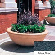 Wausau TF4144 Round Outdoor Planter - Weatherstone Charcoal 48x18