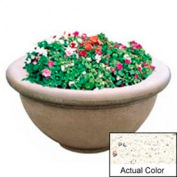 Wausau TF4146 Round Outdoor Planter - Weatherstone White 36x18