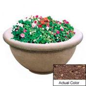 Wausau TF4146 Round Outdoor Planter - Weatherstone Brown 36x18