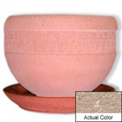Wausau TF4148 Round Outdoor Planter Saucer - Weatherstone Buff 36x5