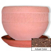 Wausau TF4148 Round Outdoor Planter Saucer - Weatherstone Brown 36x5