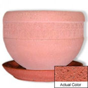 Wausau TF4148 Round Outdoor Planter Saucer - Weatherstone Brick Red 36x5