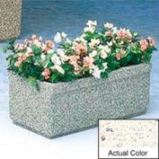 Wausau TF4150 Rectangular Outdoor Planter - Weatherstone White 36x18x14