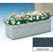 Wausau TF4165 Rectangular Outdoor Planter - Weatherstone Charcoal 48x18x25