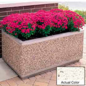 Wausau TF4175 Rectangular Outdoor Planter - Weatherstone White 72x30x30