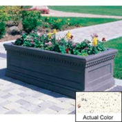 Wausau TF4176 Rectangular Outdoor Planter - Weatherstone White 72x30x30