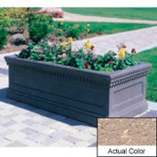 Wausau TF4176 Rectangular Outdoor Planter - Weatherstone Buff 72x30x30