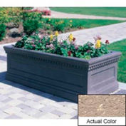 Wausau TF4177 Rectangular Outdoor Planter - Weatherstone Buff 96x30x30