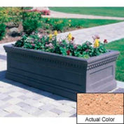 Wausau TF4177 Rectangular Outdoor Planter - Weatherstone Cream 96x30x30