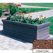 Wausau TF4177 Rectangular Outdoor Planter - Weatherstone Brown 96x30x30