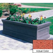 Wausau TF4177 Rectangular Outdoor Planter - Weatherstone Brick Red 96x30x30