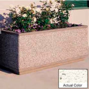 Wausau TF4182 Rectangular Outdoor Planter - Weatherstone White 48x30x24