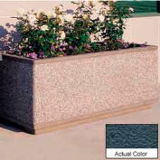 Wausau TF4182 Rectangular Outdoor Planter - Weatherstone Charcoal 48x30x24