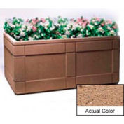 Wausau TF4183 Rectangular Outdoor Planter - Weatherstone Sand 72x48x33
