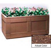 Wausau TF4183 Rectangular Outdoor Planter - Weatherstone Brown 72x48x33