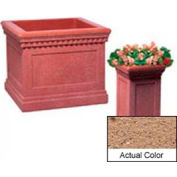 Wausau TF4184 Square Outdoor Planter - Weatherstone Sand 14x14x24