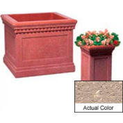 Wausau TF4184 Square Outdoor Planter - Weatherstone Buff 14x14x24