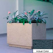 Wausau TF4190 Square Outdoor Planter - Weatherstone Charcoal 30x30x30