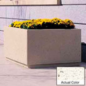 Wausau TF4200 Square Outdoor Planter - Weatherstone White 48x48x30