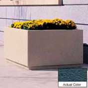 Wausau TF4200 Square Outdoor Planter - Weatherstone Charcoal 48x48x30
