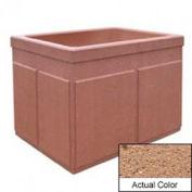 Wausau TF4202 Rectangular Outdoor Planter - Weatherstone Sand 48x36x36