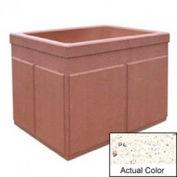 Wausau TF4202 Rectangular Outdoor Planter - Weatherstone White 48x36x36
