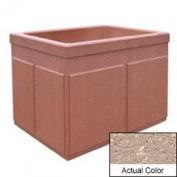 Wausau TF4202 Rectangular Outdoor Planter - Weatherstone Buff 48x36x36