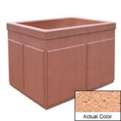 Wausau TF4202 Rectangular Outdoor Planter - Weatherstone Cream 48x36x36