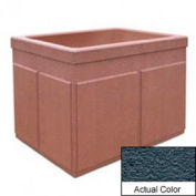 Wausau TF4202 Rectangular Outdoor Planter - Weatherstone Charcoal 48x36x36