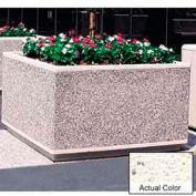 Wausau TF4205 Square Outdoor Planter - Weatherstone White 60x60x36