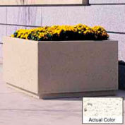 Wausau TF4209 Square Outdoor Planter - Weatherstone White 72x72x36