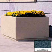 Wausau TF4209 Square Outdoor Planter - Weatherstone Charcoal 72x72x36