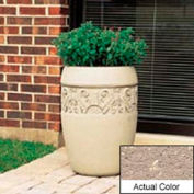 Wausau TF4219 Round Outdoor Planter - Weatherstone Buff 18x25