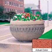 Wausau TF4226 Round Outdoor Planter - Weatherstone Brick Red 42x24