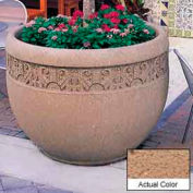 Wausau TF4229 Round Outdoor Planter - Weatherstone Sand 48x35