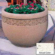 Wausau TF4229 Round Outdoor Planter - Weatherstone White 48x35