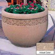 Wausau TF4229 Round Outdoor Planter - Weatherstone Buff 48x35
