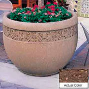 Wausau TF4229 Round Outdoor Planter - Weatherstone Brown 48x35