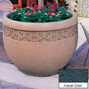 Wausau TF4229 Round Outdoor Planter - Weatherstone Charcoal 48x35