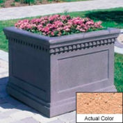 Wausau TF4236 Square Outdoor Planter - Weatherstone Cream 24x24x20