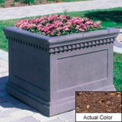 Wausau TF4236 Square Outdoor Planter - Weatherstone Brown 24x24x20