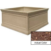 Wausau TF4237 Square Outdoor Planter - Weatherstone Brown 72x72x36