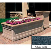 Wausau TF4239 Rectangular Outdoor Planter - Weatherstone Charcoal 48x24x20
