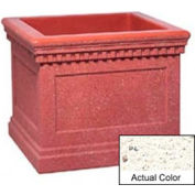 Wausau TF4240 Square Outdoor Planter - Weatherstone White 36x36x30