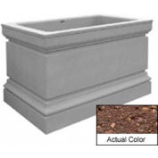 Wausau TF4241 Rectangular Outdoor Planter - Weatherstone Brown 48x30x36