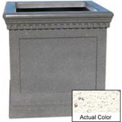 Wausau TF4242 Square Outdoor Planter - Weatherstone White 36x36x36
