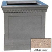 Wausau TF4242 Square Outdoor Planter - Weatherstone Buff 36x36x36