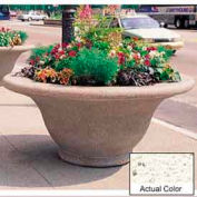 Wausau TF4302 Round Outdoor Planter - Weatherstone White 80x35